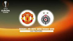 Indosport - Prediksi Manchester United vs FK Partizan