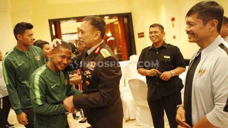 Ketua umum PSSI, Mochamad Iriawan alias Iwan Bule secara khusus bertemu Timnas Indonesia U-23 pada Rabu (06/11/19) di Hotel Sultan jelang SEA Games 2019. - INDOSPORT