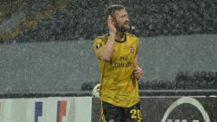 Indosport - Skhodran Mustafi jarang mendapat kepercayaan di Arsenal dan lebih sering bermain di ajang Liga Europa ketimbang kompetisi reguler.