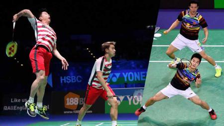 Ganda putra China, He Ji Ting/Tan Qiang bukanlah lawan berat untuk Kevin Sanjaya/Marcus Gideon, keduanya akan bertemu di Fuzhou China Open 2019 hari ini, Kamis (07/11/19). - INDOSPORT
