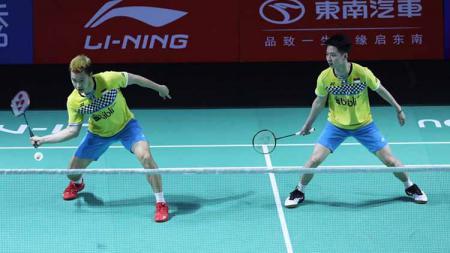 Kevin/Marcus Tumbangkan Ganda China He Ji Ting/Tan Qiang dan ke perempatfinal Fuzhou China Open 2019 - INDOSPORT