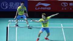 Indosport - Kevin/Marcus Tumbangkan Ganda China He Ji Ting/Tan Qiang dan ke perempatfinal Fuzhou China Open 2019