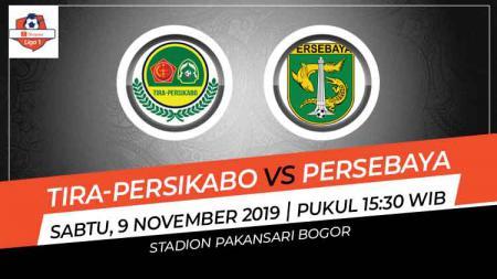 Prediksi pertandingan Shopee Liga 1 2019 Tira-Persikabo vs Persebaya Surabaya pada pekan ke-28, Sabtu (09/11/19), pukul 15.30 WIB, di Stadion Pakansari, Bogor. - INDOSPORT