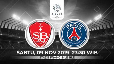 Prediksi pertandingan Ligue 1 Prancis 2019-2020 Brest vs Paris Saint-Germain (PSG) pada pekan ke-13, Sabtu (09/11/19), pukul 23.30 WIB di Stade Francis-Le Ble. - INDOSPORT