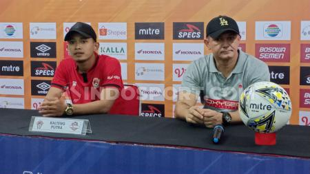 Konferensi pers Kalteng Putra setelah ditaklukkan PSM dengan skor 1-2 di Stadion Andi Mattalatta, Makassar, Rabu (6/11/19). (Adriyan Adirizky/INDOSPORT) - INDOSPORT