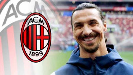 Nama Zlatan Ibrahimovic masih terus dikaitkan dengan klub Serie A Liga Italia, AC Milan. - INDOSPORT