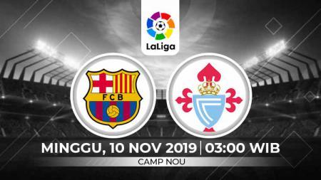 Barcelona diprediksi harus berjuang ekstra keras untuk mengalahkan Celta Vigo dalam pekan ke-13 LaLiga Spanyol, Minggu (10/11/19), pukul 03.00 WIB, di Camp Nou. - INDOSPORT