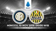 Indosport - Inter Milan punya kans besar untuk menjaga asa puncak klasemen dengan menekuk Hellas Verona di pekan ke-12 Serie A Italia, Minggu (10/11/19) pukul 00.00 WIB.