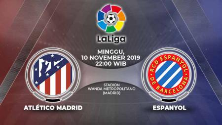 Link Live Streaming pertandingan antara Atletico Madrid vs Espanyol. - INDOSPORT