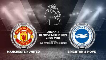 Laga pekan ke-12 Liga Inggris antara Manchester United melawan Brighton & Hove Albion, Minggu (10/11/19), 21.00 WIB, bisa disaksikan lewat live streaming. - INDOSPORT