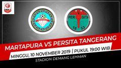 Indosport - Pertandingan antara Martapura vs Persita Tangerang.