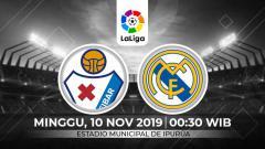 Indosport - Link live streaming pertandingan Liga Spanyol: Eibar vs Real Madrid