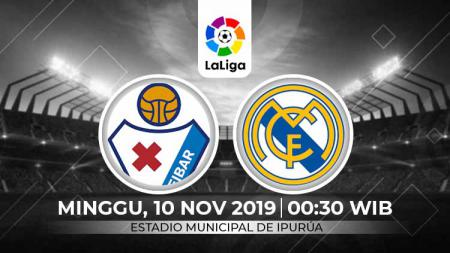Link live streaming pertandingan Liga Spanyol: Eibar vs Real Madrid - INDOSPORT