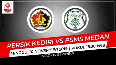 Persik Kediri dan PSMS Medan harus puas bermain imbang 1-1 dalam pertandingan pertama Grup B babak 8 besar Liga 2 2019, Minggu (10/11/19). - INDOSPORT