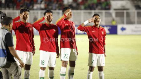 Skuat Timnas Indonesia U-19 akan melakoni partai pamungkas Grup K Kualifikasi Piala Asia U-20 melawan Korea Utara. - INDOSPORT