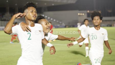 Bagas Kaffa (kiri) dan Bagus Kahfi saat memperkuat Timnas Indonesia U-19. - INDOSPORT