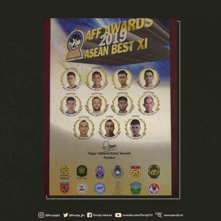 Starting XI Terbaik AFF tahun 2019. Copyright: Media AFF