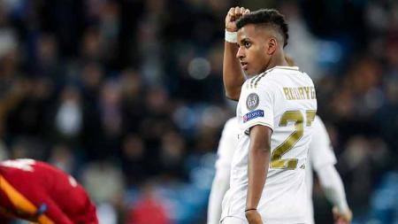 Bermain untuk Real Madrid Castilla, Rodrygo Goes diganjar kartu merah setelah mencetak gol. - INDOSPORT