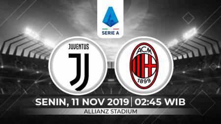 Prediksi pertandingan pekan ke-12 Serie A Italia 2019-2020 antara Juventus vs AC Milan, Senin (11/11/19) dini hari WIB. - INDOSPORT