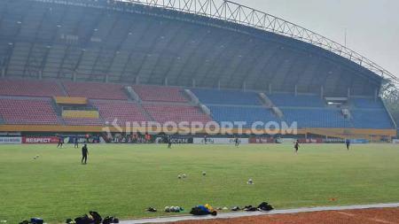 Penampakan terkini Stadion Gelora Sriwijaya Jakabaring, Palembang. - INDOSPORT