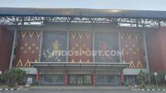 Indosport - Penampilan depan Stadion Gelora Sriwijaya, Jakabaring, Palembang, kandidat Stadion Piala Dunia U-20 2021.