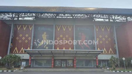 Penampilan depan Stadion Gelora Sriwijaya, Jakabaring, Palembang, kandidat Stadion Piala Dunia U-20 2021. - INDOSPORT