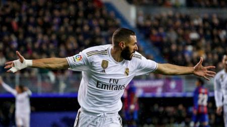 Klub Liga Spanyol, Real Madrid, mendapat kabar baik dengan pulihnya striker mereka, Karim Benzema, jelang pertandingan Copa del Rey melawan Unionistas. - INDOSPORT
