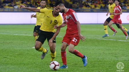 Tajikistan menelan kekalahan 0-1 atas Malaysia dalam pertandingan uji coba internasional. - INDOSPORT