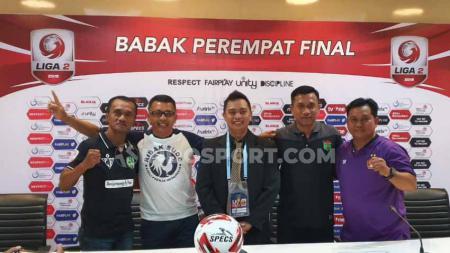 PSMS Medan, Persik Kediri, Martapura FC, dan Persita Tangerang akan saling sikut dalam babak 8 besar Liga 2 2019 di Stadion Gelora Sriwijaya. - INDOSPORT