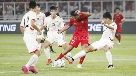 Hasil pertandingan Kualifikasi Piala Asia U-19 2020 antara Timnas Indonesia U-19 vs Korea Utara U-19 adalah 1-1, Minggu (10/11/19) malam. - INDOSPORT