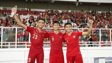 Skuat Timnas Indonesia U-19 yang berhasil menggenggam tiket Piala Asia U-19 2020 Uzbekistan. - INDOSPORT