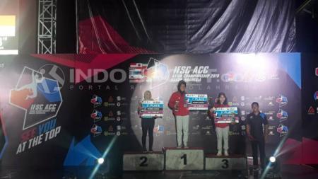 Indonesia berhasil menyapu bersih medali emas di Kejuaraan Panjat Tebing IFSC ACC Asian Championship 2019 - INDOSPORT