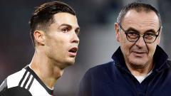 Indosport - Cristiano Ronaldo tunjukkan sikap tak puas terhadap Maurizio Sarri setelah Juventus juara Serie A Liga Italia. Apakah dirinya ingin angkat kaki?