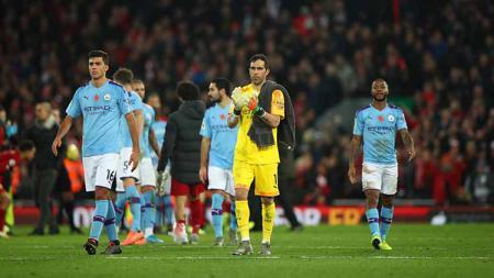 Kekalahan Manchester City dari Liverpool pada pekan ke-12 Liga Inggris musim ini membuat Gary Neville tergelitik untuk berkomentar. - INDOSPORT
