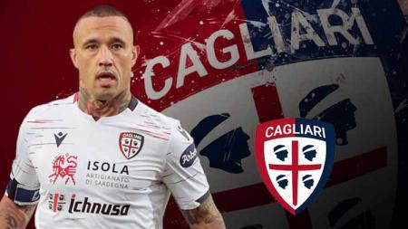 Radja Nainggolan, pemain keturunan Indonesia yang kini membela klub Serie A Italia, Cagliari, memberikan jawaban tentang peluang untuk kembali ke Inter Milan. - INDOSPORT