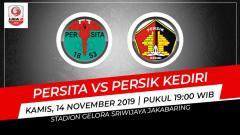 Indosport - Hasil babak 8 besar Liga 2 antara Persita Tangerang vs Persik Kediri