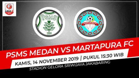 PSMS Medan berhasil meraih kemenangan tipis 2-1 atas Martapura FC dalam pertandingan kedua Grup B babak 8 besar Liga 2 2019, Kamis (14/11/19). - INDOSPORT