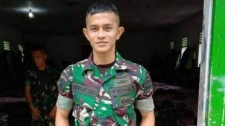 Prajurit Serda Iman Berkat Gea meregang nyawa usai melakukan latihan bela diri di Batalion 122/TS, Sumatera Utara pada, Senin (04/11/19). - INDOSPORT