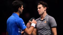 Indosport - Novak Djokovic dan Dominic Thiem di Nitto ATP Finals 2019.