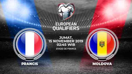Prediksi pertandingan Kualifikasi Euro 2020 antara Prancis menghadapi Moldova di Stade de France, Jumat (15/11/19). - INDOSPORT