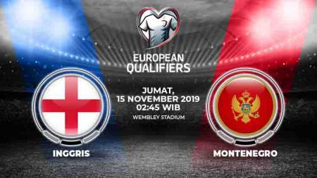 Inggris diperkirakan akan meraih kemenangan melawan Montenegro dalam matchday sembilan Kualifikasi Euro 2020 di Wembley, Jumat (15/11/19), pukul 02.45 WIB. - INDOSPORT