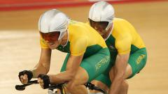 Indosport - Kieran Modra (kiri) bersama pasangannya, Scott McPhee