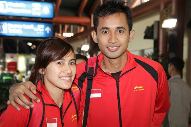 Hayom Rumbaka dan Bellaetrix Manuputty saat masih bersama. Copyright: Badminton Indonesia