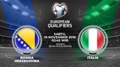 Indosport - Italia bakal bertandang ke Bosnia-Herzogovina dalam lanjutan kualifikasi Euro 2020 Grup J, Sabtu (16/11/19) pukul 02.45 dini hari WIB di Bilino Polje.