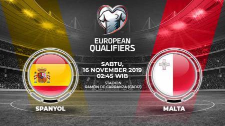 Link Live Streaming Pertandingan Kualifikasi Euro 2020: Spanyol vs Malta pada Sabtu (16/11/19) dini hari WIB. - INDOSPORT