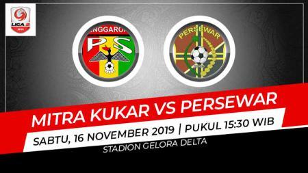 Pertandingan antara Mitra Kukar vs Persewar. - INDOSPORT