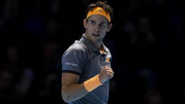 Dominic Thiem kala mengalahkan Novak Djokovic di Nitto ATP Finals 2019. - INDOSPORT