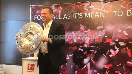 Legenda sepak bola Jerman, Lothar Matthaus kunjungi Jakarta untuk menyapa penggemar Liga Jerman di Indonesia dalam acara Bundesliga Experience. - INDOSPORT