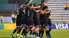 Indosport - Para pemain Timnas Meksiko U-16 saat berlaga di Piala Dunia U-17 2019.