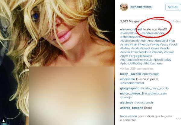 Elena Morali, perempuan yang kabarnya mantan pacar Jorge Lorenzo pamer payudara dan memilih Rossi Copyright: Instagram @elenamoralireal